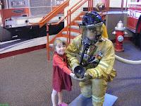 EdVenture Posing with Fireman