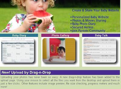 Free Baby Website BabysMoments.Com