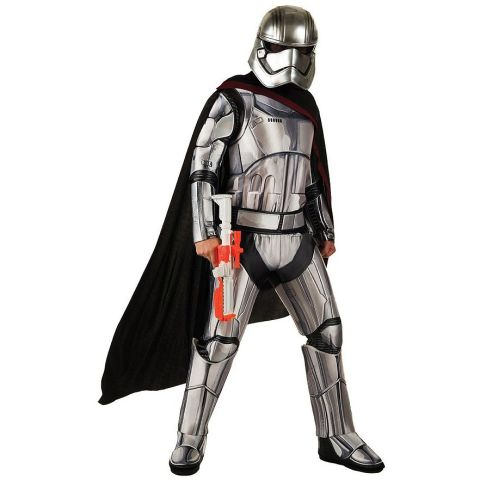 $70 BUY NOW Your standard Stormtrooper costume is the easy option, but opting for a newer character like Captain Phasma is a great way to stand out from the classics. This costume is fairly complete, though it doesn't include the toy gun or boots seen in this image.