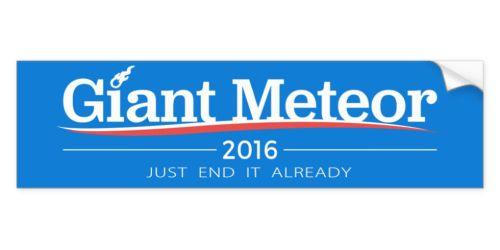 Nihilistic Bumper Sticker for 2016: