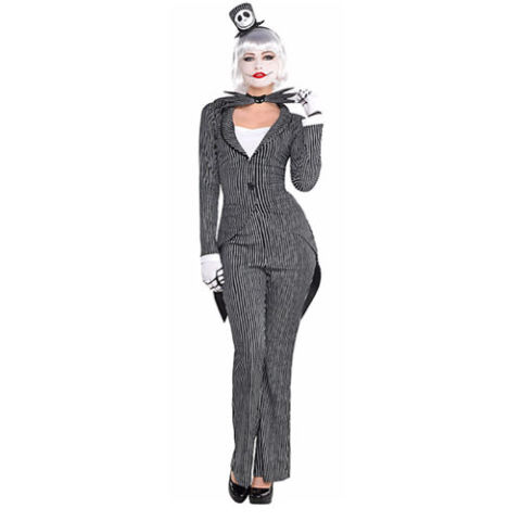 $50 BUY NOW Jack Skellington ... a Halloween classic. And this time it's not just for the guys. This sexy women's costume of the lovable Nightmare Before Christmas character is a chic take on the original. Wig, face makeup, and heels not included.