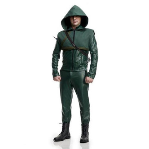 from $159 BUY NOW  We're amazed at how many well-executed Green Arrow costumes there are, and relatively inexpensively. This particular example — modeled after the costume from season four of the series — is extremely comprehensive, and it appears to be made out of either leather or a faux-leather material. Either way, it'll blow most of our affordable costumes here out of the water if a costume contest is in your future.