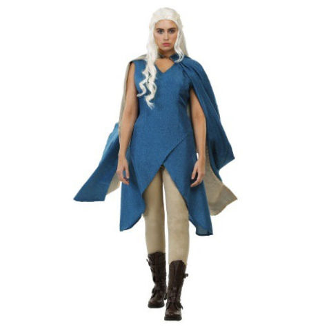 $60 BUY NOW Dress as Daenerys, Princess of House Targaryen, and you'll be ready to take back the throne. Make sure you bring your dragons. Wig not included.