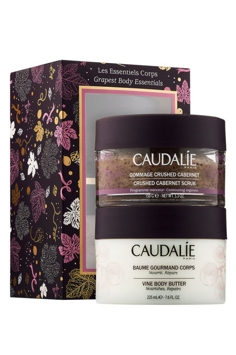 $35 BUY NOW Don't let seasonal stress take a toll on her holiday. This simple solution from Caudalie includes a crushed cabernet-scrub body butter for at-home aromatherapy to soothe away stress with just one soak (tip: Suggest she add a glass of wine and a few candles around the tub for the real spa treatment).