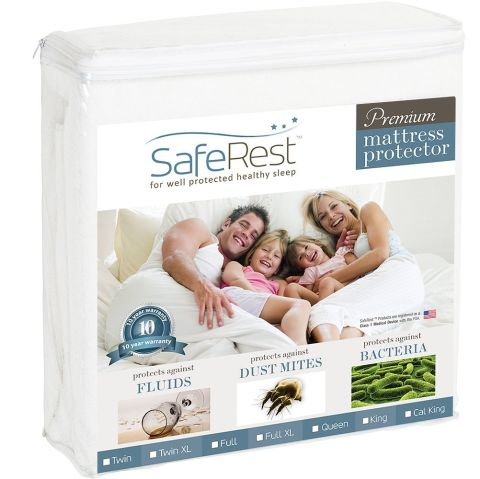 Saferest Queen Size Hypoallergenic Waterproof Mattress Protector