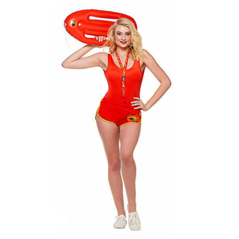 $40 BUY NOW Let the guys know who the real lifeguard on duty is. This Baywatch outfit is perfect for an easy, cute costume everyone will love.