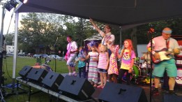 "Jefferson Rocks West Park: The Spazmatics kicked off our summer concert series in 2017 and had children volunteer on stage to dance with pom poms to the ""Hey Mickey"" number."