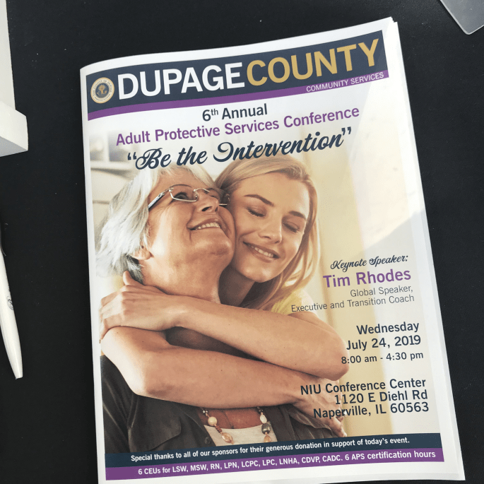 Program from the DuPage County APS Conference
