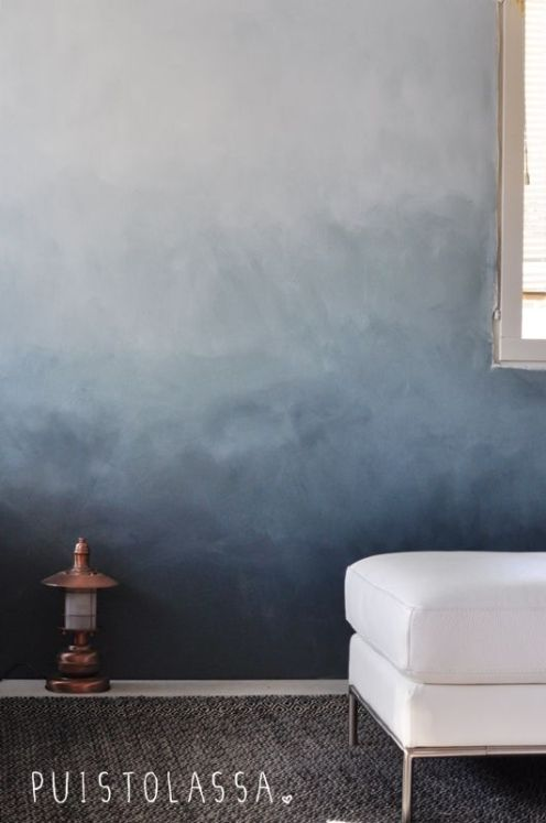 wall decor ideas by bplusdesign - ombre art - ideas for wall decor with ombre painting