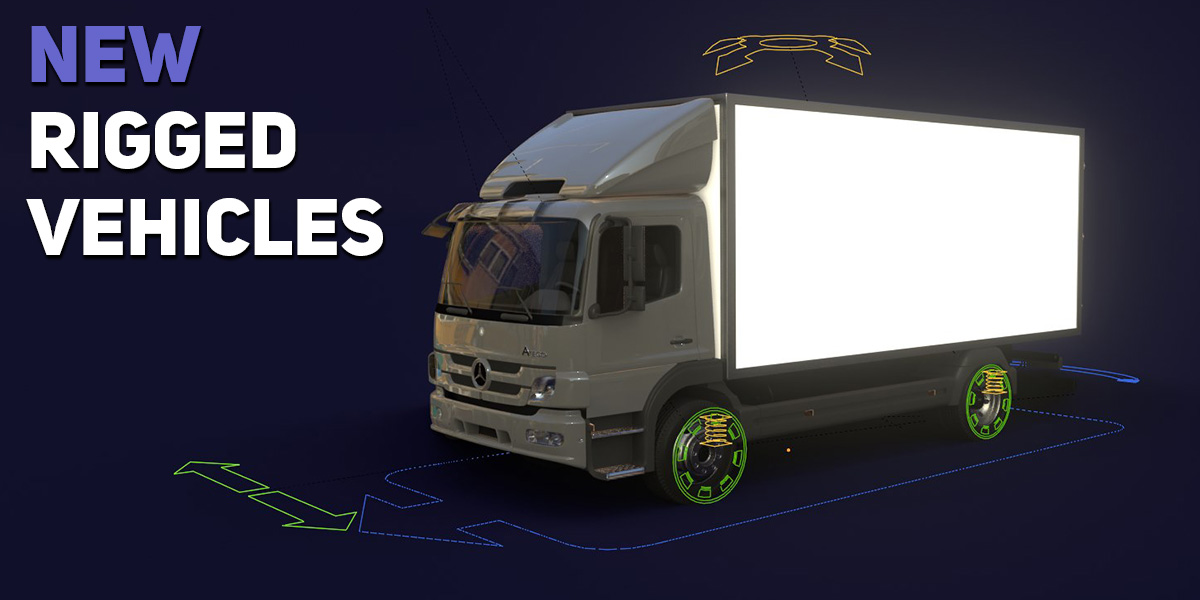 rigged car animation blender transportation