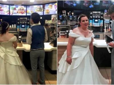 結婚式当日にマクドナルド