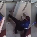 激闘3時間!酔っぱらいVS開かないドアのマジ喧嘩動画が世界に拡散