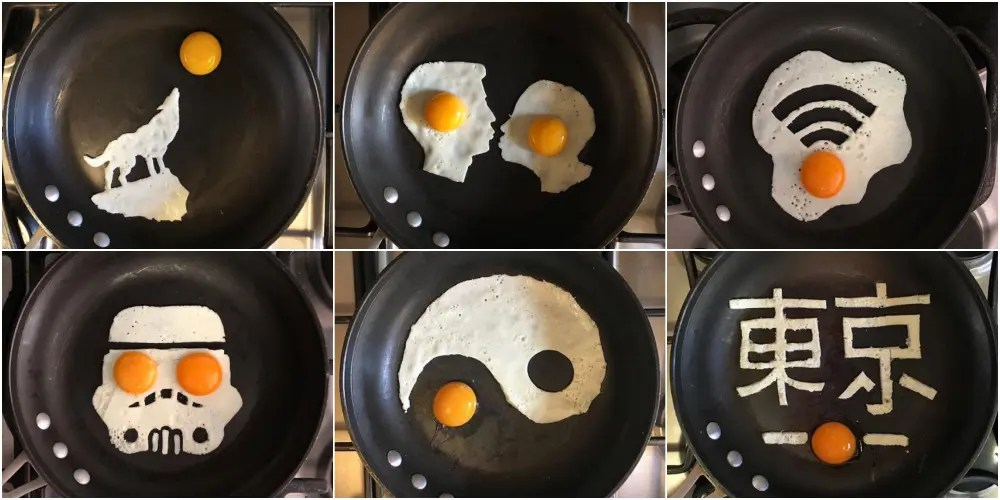 インスタ映えする卵アートの世界