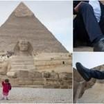 運命の出会い!世界1身長の低い女性と高い男性がピラミッド前でポーズ