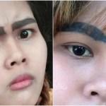 眉毛タトゥー大失敗!26歳女性「こち亀」両津状態の極太眉毛ボーン