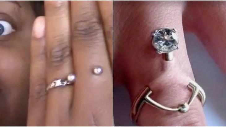 結婚指ピアスで不倫防止ブーム!薬指のインプラントは浮気撲滅の結界