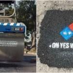 ドミノピザが道路工事する理由「安全にピザを持ち帰って欲しい」斬新PR活動が絶賛