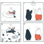 中国発「ほのぼの動物の日常系4コマ漫画」抜群のユルさで癒やし効果抜群