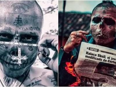 コロンビアの身体改造骸骨人間