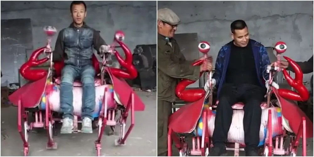 中国でカニロボット誕生