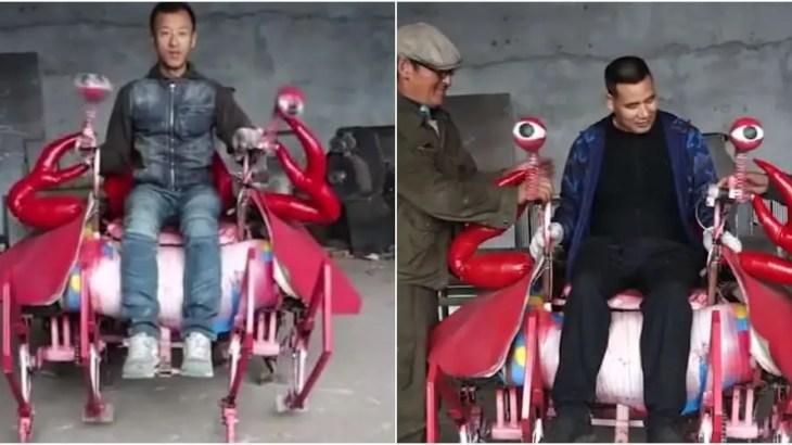 【革命】移動用カニロボット誕生!中国のインディーズ発明家が大発明