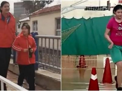 世界一背の高い11歳の中国人少女