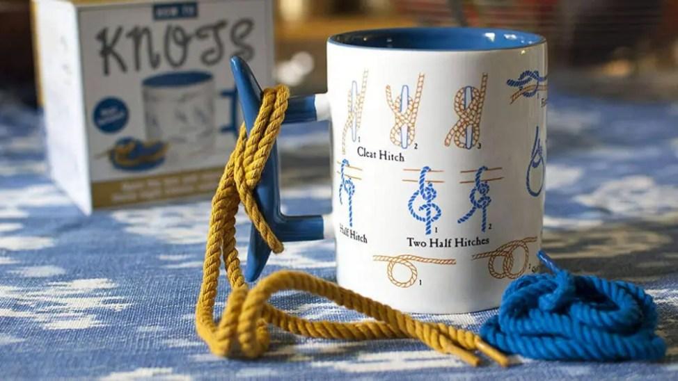 ロープの結び方学習用コーヒーマグカップ