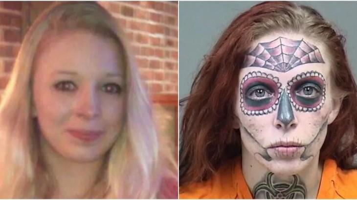 顔面TATTOOでドクロ転生した元美女を万引き逮捕!わずか5年で面影ゼロ