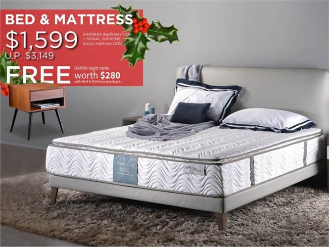 Bed Mattress Special This Gift Giving X Mas Season Get A Free Dansk Side Table Worth 280 With Your Purchase Of Our Sardinia Bedframe And Nightingale