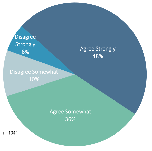 Pie chart showing that most people agree that misinformation is a bigger problem than censorship