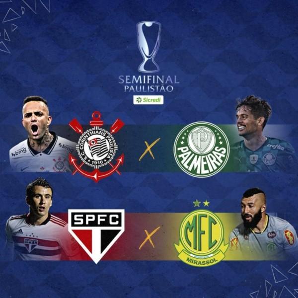 Semifinais do Campeonato Paulista já estão definidas! (Foto: Reprodução Twitter)