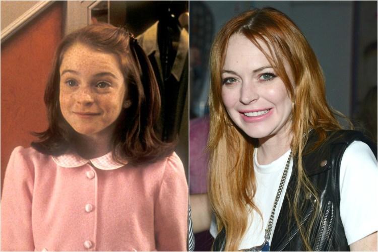 Lindsay Lohan Como são essas celebridades infantis hoje