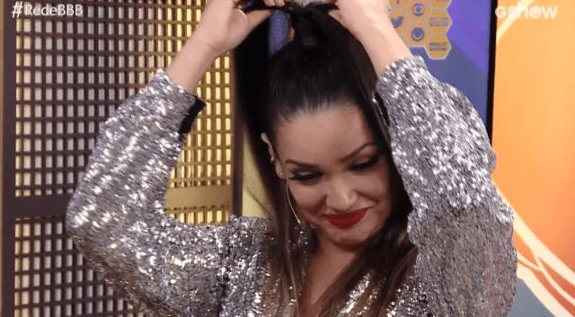 """Juliette Freire seguiu em entrevista para a """"Rede BBB"""" com a apresentadora Ana Clara Lima. (Foto: Reprodução/ Globo)"""
