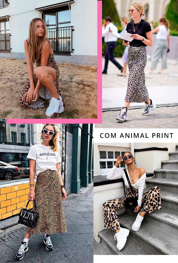 it-girl - animal-print-chunky-sneakers - dad sneakers - verão - street-style