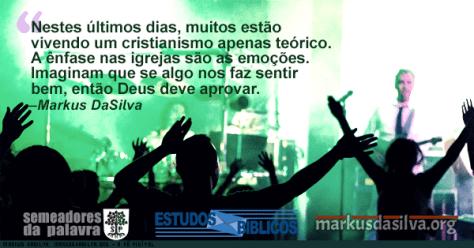 Grupo de pessoas adorando a Deus dentro de uma igreja moderna com texto Estudo Bíblico - A Fé Visível - Markus DaSilva