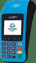Ilustração da máquina de cartão Mercado Pago Point Pro