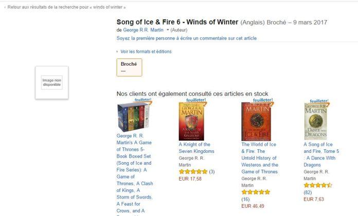 252727 Game Of Thrones   Amazon francês pode ter divulgado data de lançamento de Os Ventos do Inverno