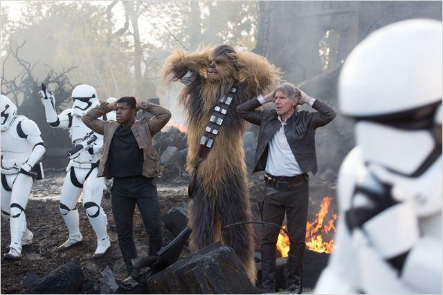 Star Wars - O Despertar da Força : Foto Harrison Ford, John Boyega, Peter Mayhew
