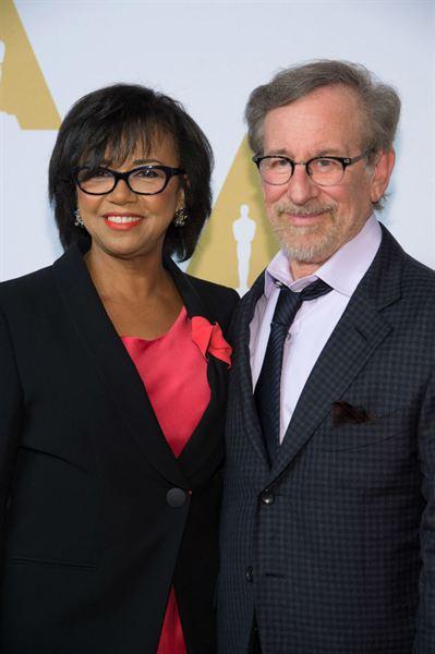 Presidente da Academia Cheryl Boone Isaacs e Steven Spielberg