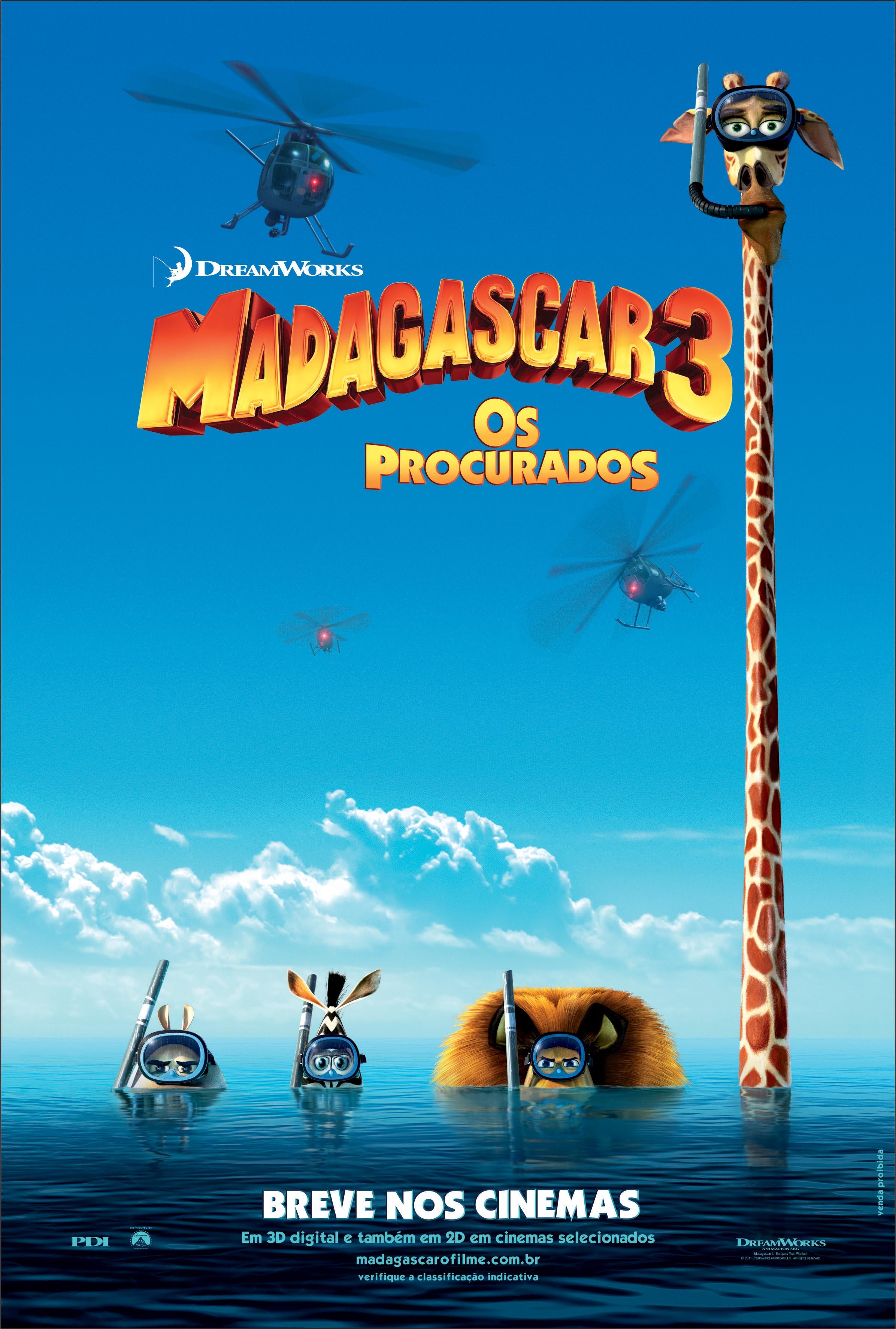 Poster do filme Madagascar 3: os procurados