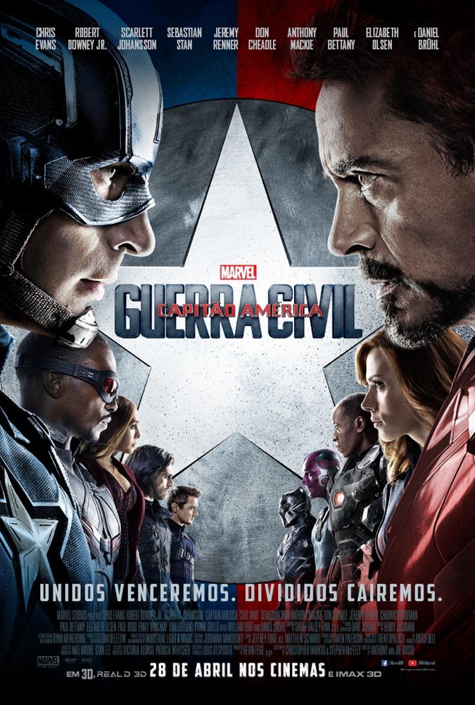 Poster do filme Capitão América: Guerra Civil
