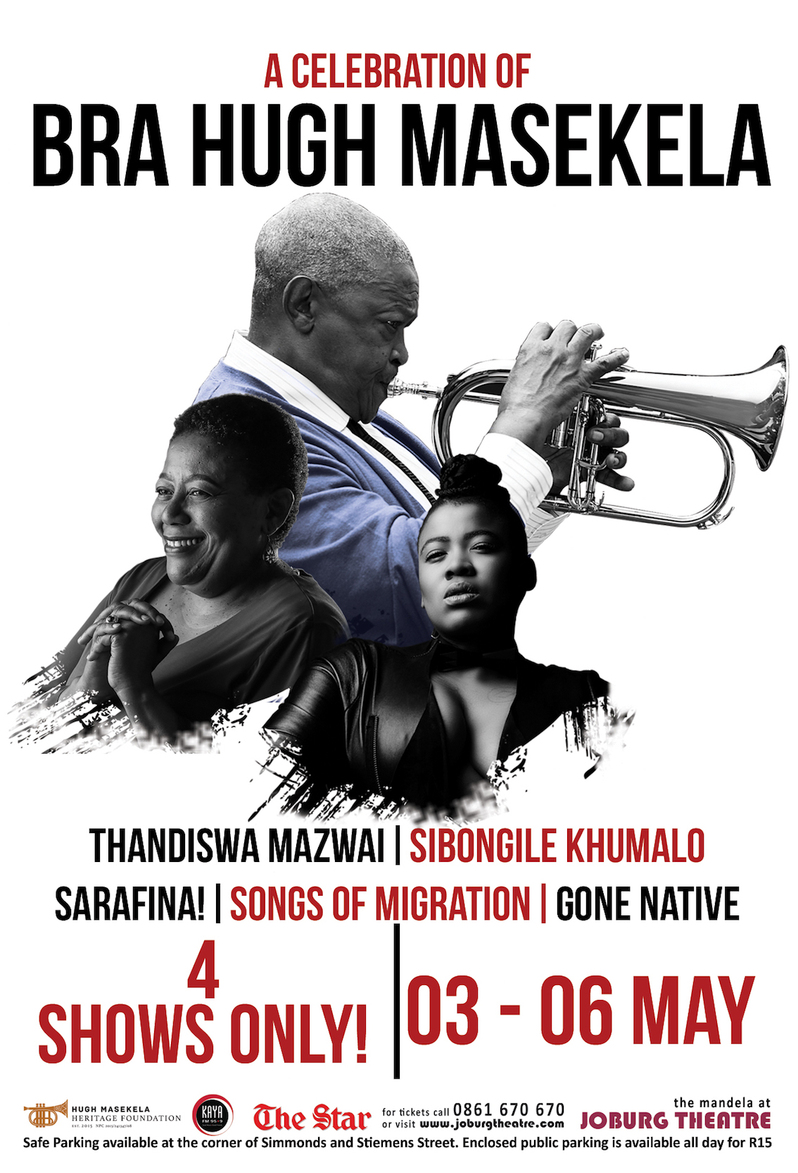 A CELEBRATION OF BRA HUGH MASEKELA – 4 shows only @ Joburg Theatre