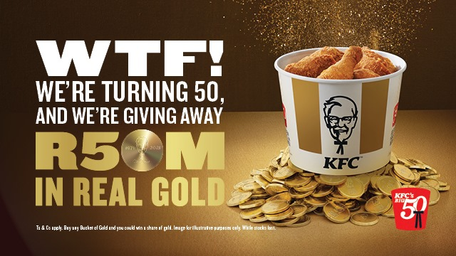 KFC is giving away REAL GOLD worth millions to celebrate its 50th birthday in Mzansi!