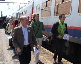 Ecolo et Groen traversent la Belgique en train