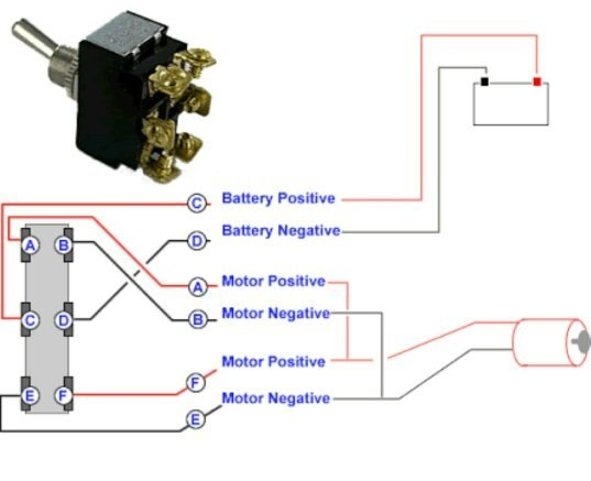 Six Terminal Switch Wiring Diagram Forward Reverse