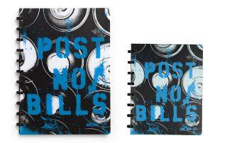 Cadernos nos Formatos: A4 e A5 | Cor: azul