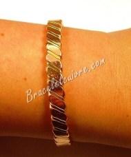 Bracelet en cuivre avec bande laiton