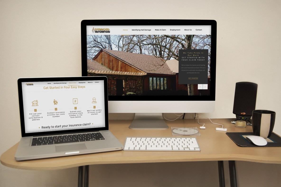 Roof Repair Restoration Website Mockup Example