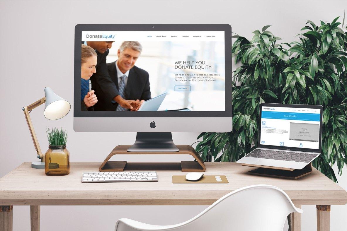 Financial Website Mockup Example