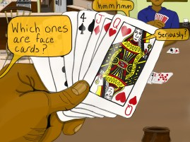 Which ones are face cards?